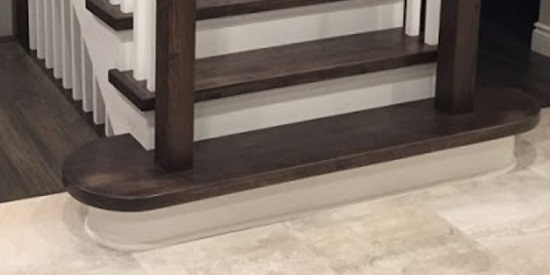 If This Type Of Stair Tread Is Present, There Will Only Be One Per Staircase.  A 1st Step Open Both Sides Round Stair Tread Will Have A 180 Degree Radius,  ...