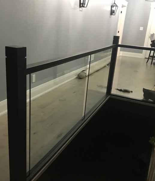 Glass balustrade oak handrail mississauga
