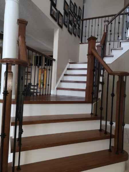 open both sides hardwood stairs burlington
