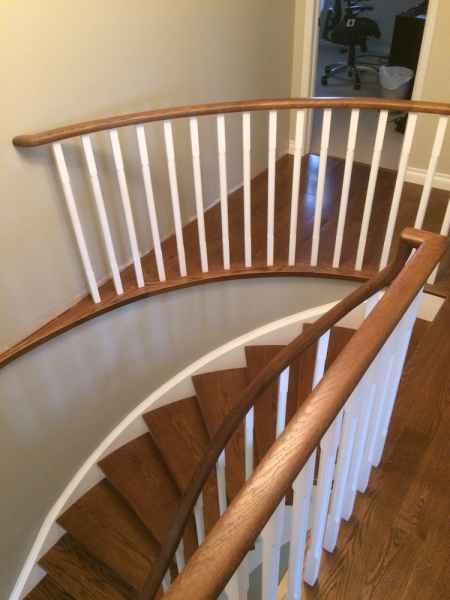 curved hallway with shelf landing mississauga