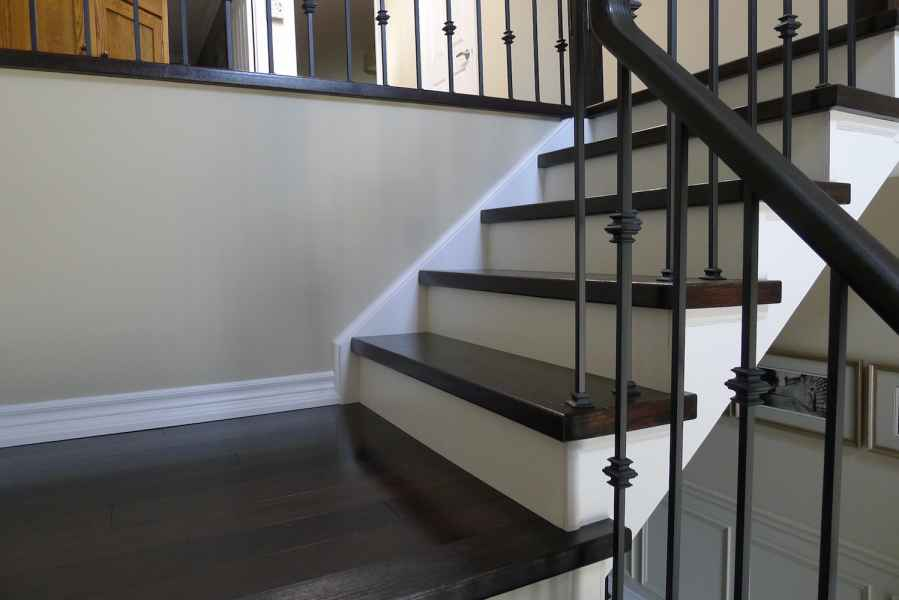 Dark piano staircase burlington