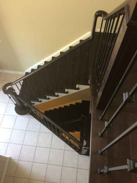2 sets dark staircases burlington