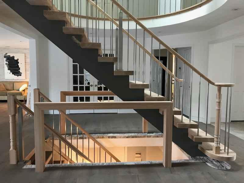 contemporary open rise staircase