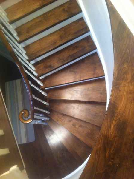 Curve staircase oakville