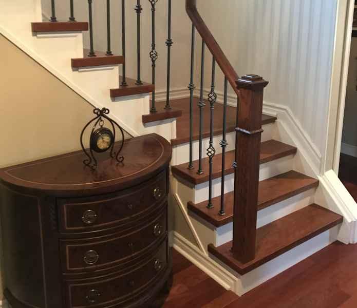 Custom made Jatoba stairs