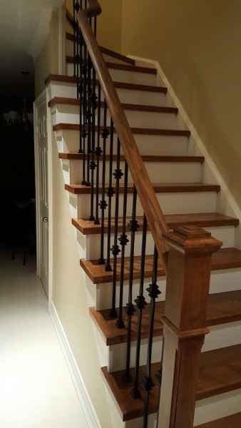 newel post hardwood staircase mississauga