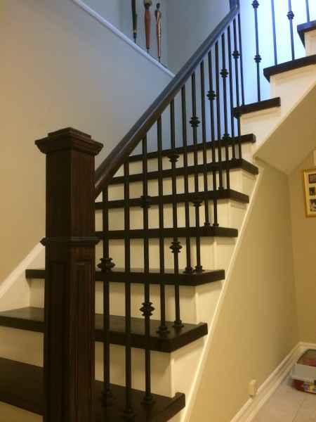 staircase iron spindles oakville