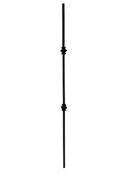 Wrought iron double collar knuckle baluster