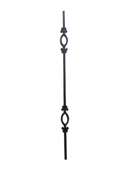 Wrought iron double ring baluster