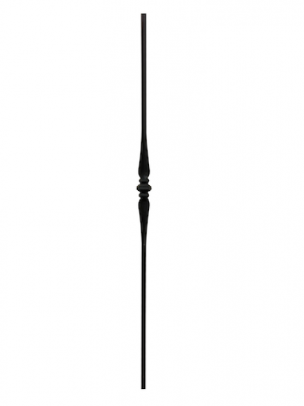 Wrought iron single collar knuckle baluster with spoons