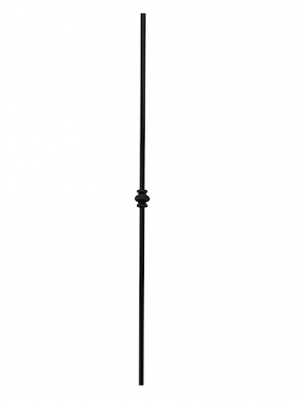 Wrought iron single collar knuckle baluster