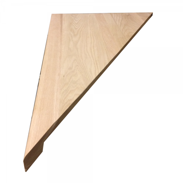 Triangle shaped stair tread