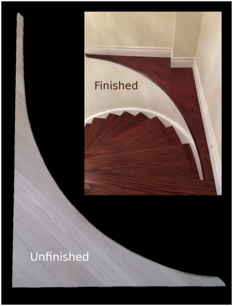 Staircase  curve shelf landing